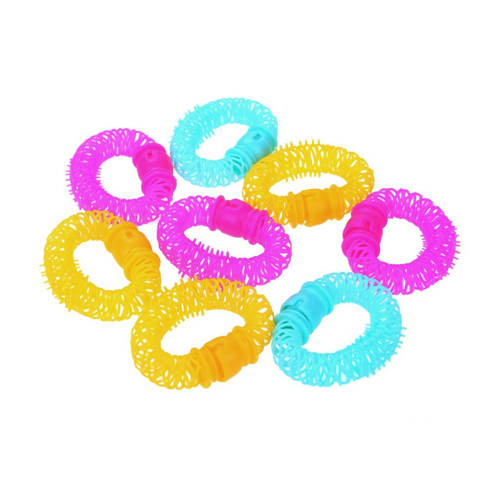 YOST 8pcs Lucky Donuts Curly Hair Curls Roller Hair Styling Tools Hair Accessories Magic Spiral Ringlets Circles
