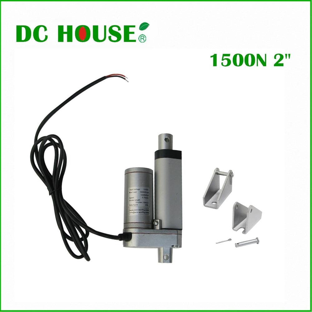 цена на 2PCS 50mm stroke DC 12v 5.7mm/s speed multi- function linear actuator, 150KG load mini electric linear actuator