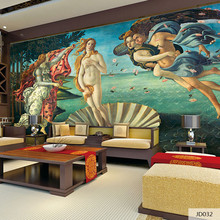 Custom DIY Fabric & Textile 3D Print Wallcoverings For Walls Wall Mural Retro cotton and linen Washable Living Room Europe