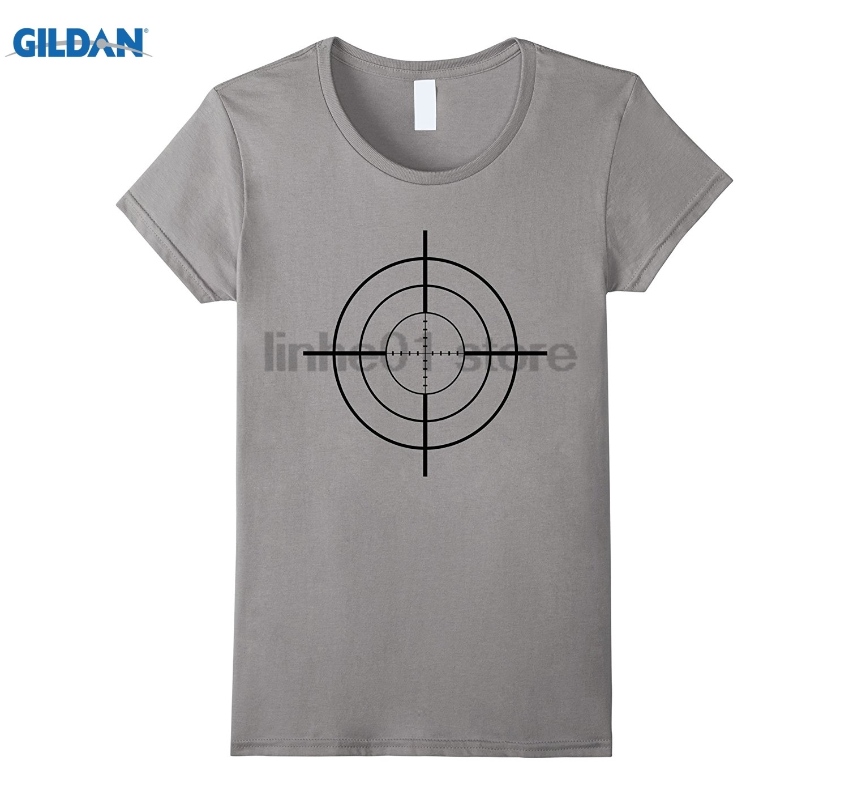GILDAN Crosshair T-Shirt Sniper Scope Gun Target Graphic Tee Mothers Day Ms. T-shirt