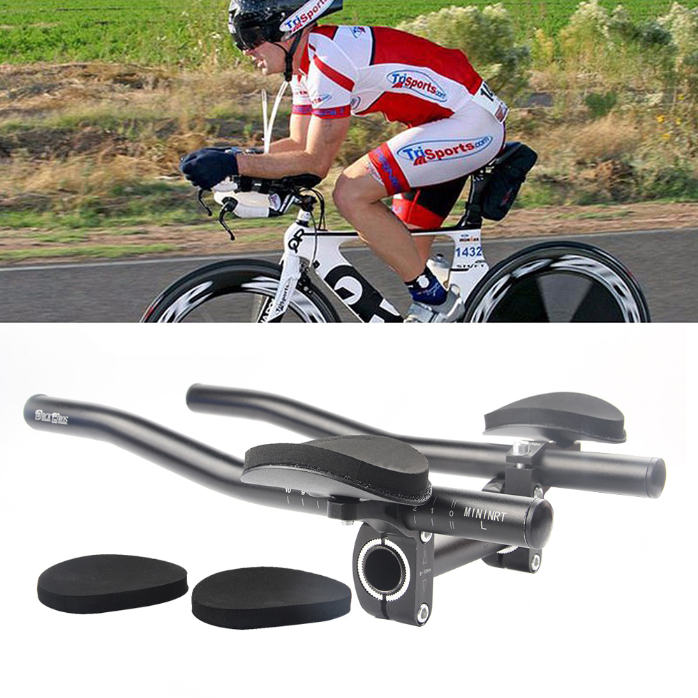 Road Bike Racing Time//Triathlon Bullhorn Bar 31.8 400mm Handlebar silver black