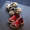 Niños superman spiderman batman shoes 2016 nuevos muchachos de las muchachas niños de navidad/halloween shoes tamaño 21-30 zapatillas de deporte de moda