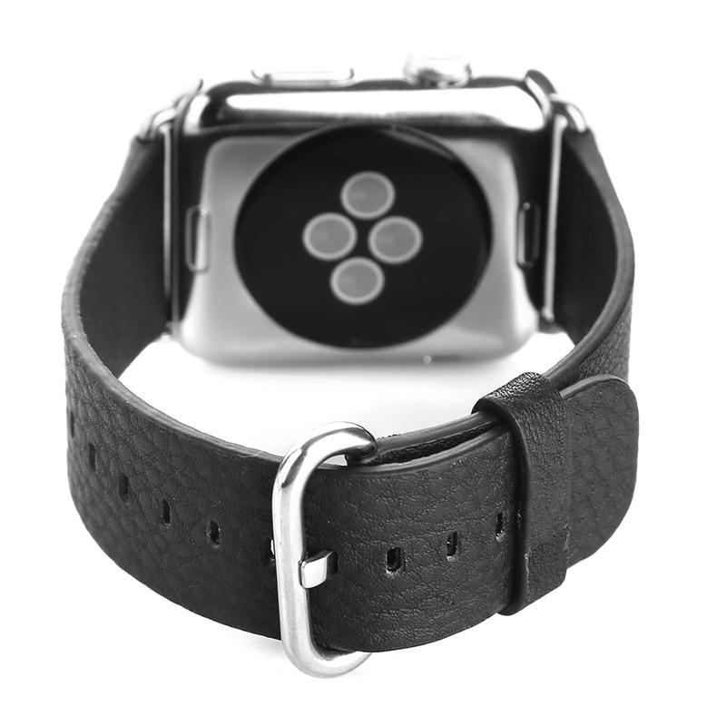 FOHUAS loomanahast ehtsast nahast rihmaga vöötlint Apple Watchi - Kellade tarvikud - Foto 2