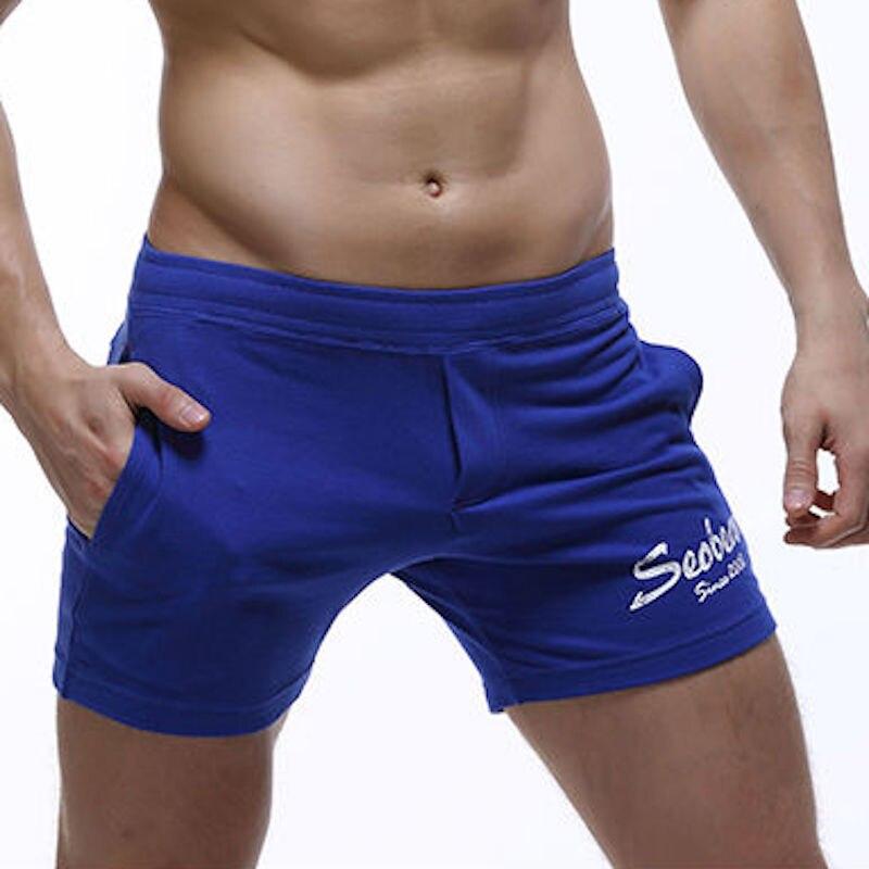 SEOBEAN Mens Jogger Shorts Casual Trunks Kurze Hosen Herren Summer Short Cortos Hombres Beach Small Boxer Cotton Pantalón Corto