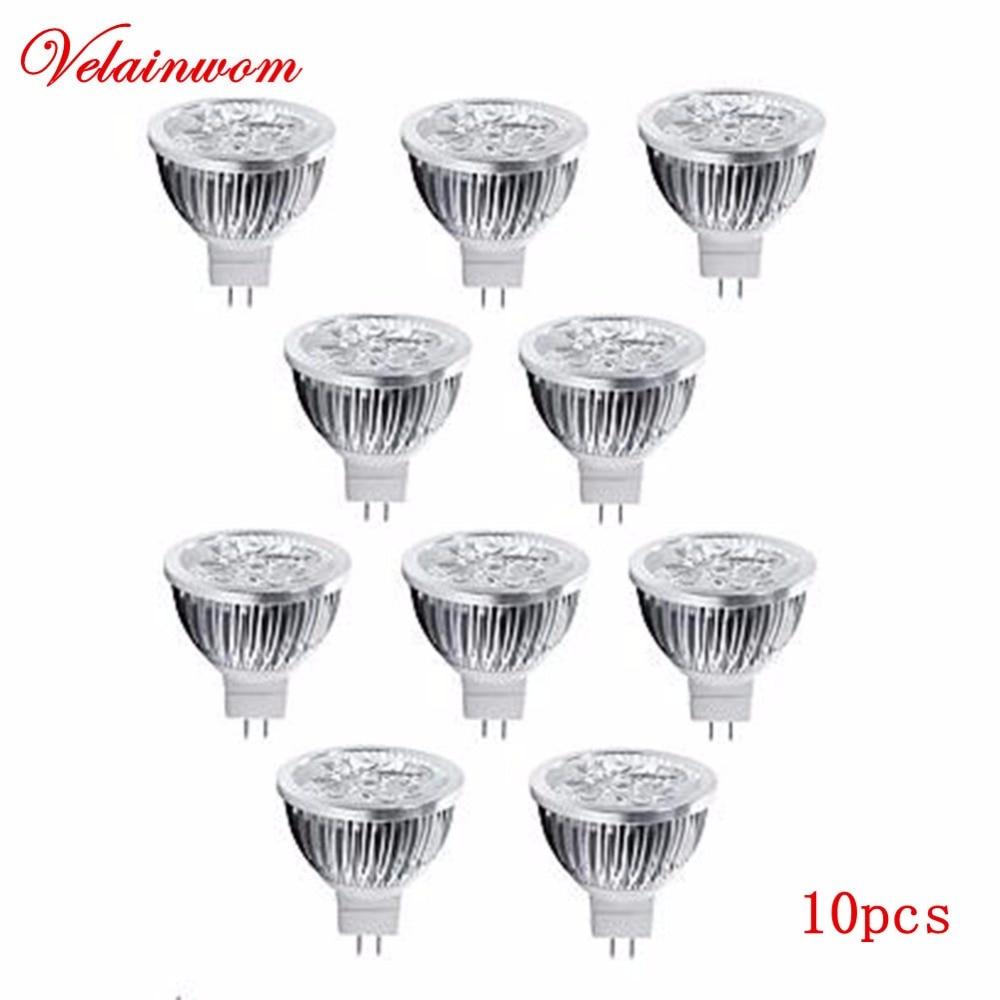 12 V Lâmpada LED MR16 Holofotes 3 W 4 W 5 W High Power LED Light Quente/Frio Branco Lâmpada LED Livre Shippinng 10 pçs/lote