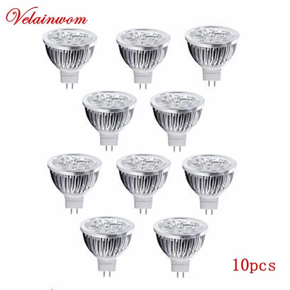 Светодиодная лампа MR16, 12 В, 3 Вт, 4 Вт, 5 Вт, высокая мощность, 10 шт./лот