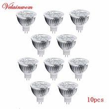 12v led lâmpada mr16 holofote 3w 4w 5w luz de led de alta potência quente/fria branca lâmpada led livre shippinng 10 pçs/lote