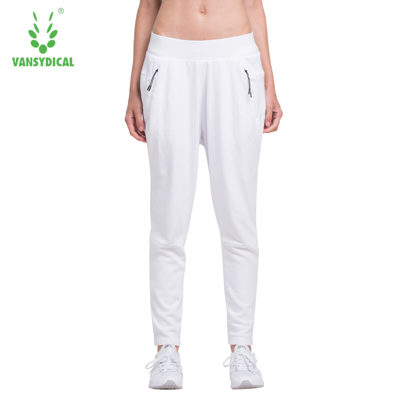 Women Running Pants Ladys Sports Pants Sports Trousers Plus Size XXL Fitness Outdoors Training Pants Cotton Zipper Pocket
