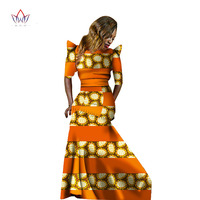 in stock Women Dress African Bazin Rich Half Sleeve Mermaid Dress Women Dashiki Dress size 3xl African Clothing WY611