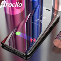 Proelio Smart Chip Flip Stand Case For Samsung Galaxy S9 S8 Plus S7 S6 Edge Plating