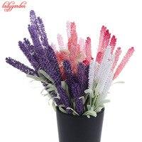10 20PCS Artificial Flowers Lavender Fake Flower Leaves Bouquet Home Wedding Decor Garden Decoration Artificial Flowers