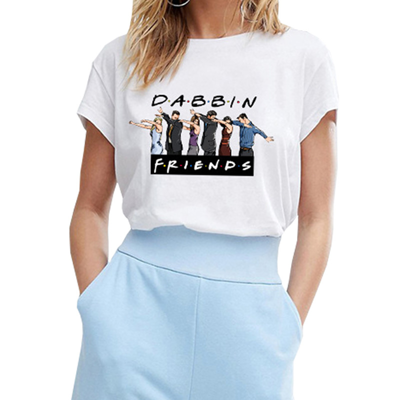 Apprehensive 2019 Fashion Tees For Women Friends Show Shirt Gift New Harajuku Letter Printing Summer Tops Orders Are Welcome.