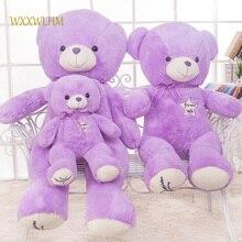 80cm Large Purple Teddy Bear Plush Toy Big Bear Birthday Gift Purple PP Cotton Stuffed Plush Doll