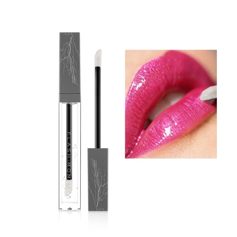 Flashmoment Transparent lip Plumper Gloss Permanent Glossy Lip treatment Liquid Clear Lip Stain INS