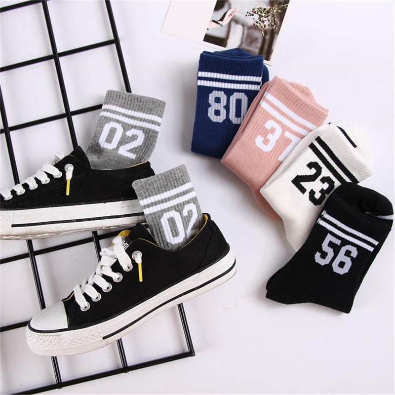 2019 New Unisex Casual Cotton   Socks   digital Printing Cotton   Socks   Retro Fashion Mens Women's Couple harajuku   Socks