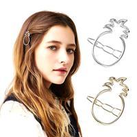 Fashion Women Lovely Pineapple Gold/Silver Plated Metal Hairpin Hair Clip Hair Accessories Para el Pelo Hairwear Hair Jewelry C5