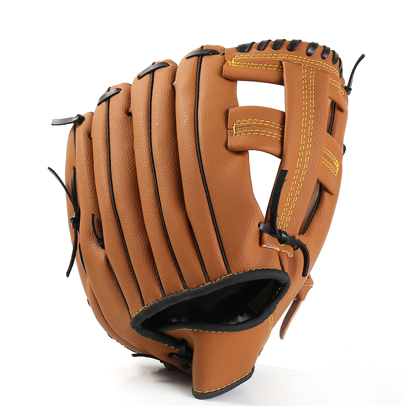 Outdoor Sport Pu Braun Baseball Handschuh Softball Praxis Ausrüstung Größe S/m/l Links Hand Für Erwachsene Mann Frau Training Kataloge Werden Auf Anfrage Verschickt Baseball & Softball Handschuhe