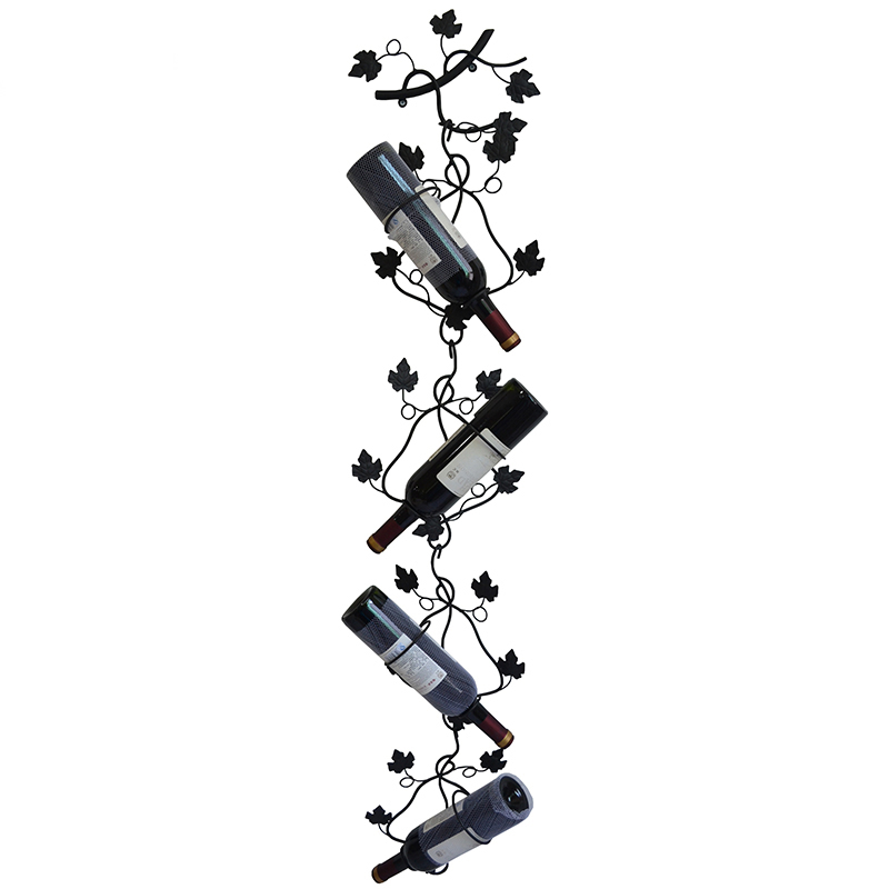 Fashion home metal iron wine holder room wall mounted wine rack wine cooler wine rack for