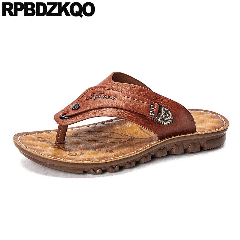 De Amarillo Aire Verano Los Diapositivas Zapatos Libre Hombres Sandalias Cuero Al EDH29YeWIb
