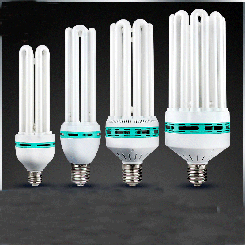 E27 4U 6U 8U 65W 150W 200W 350W Led Energy Saving Tube High Power Bulb Home White Light Indoor Bed Room Lamp CFL Fluorescent