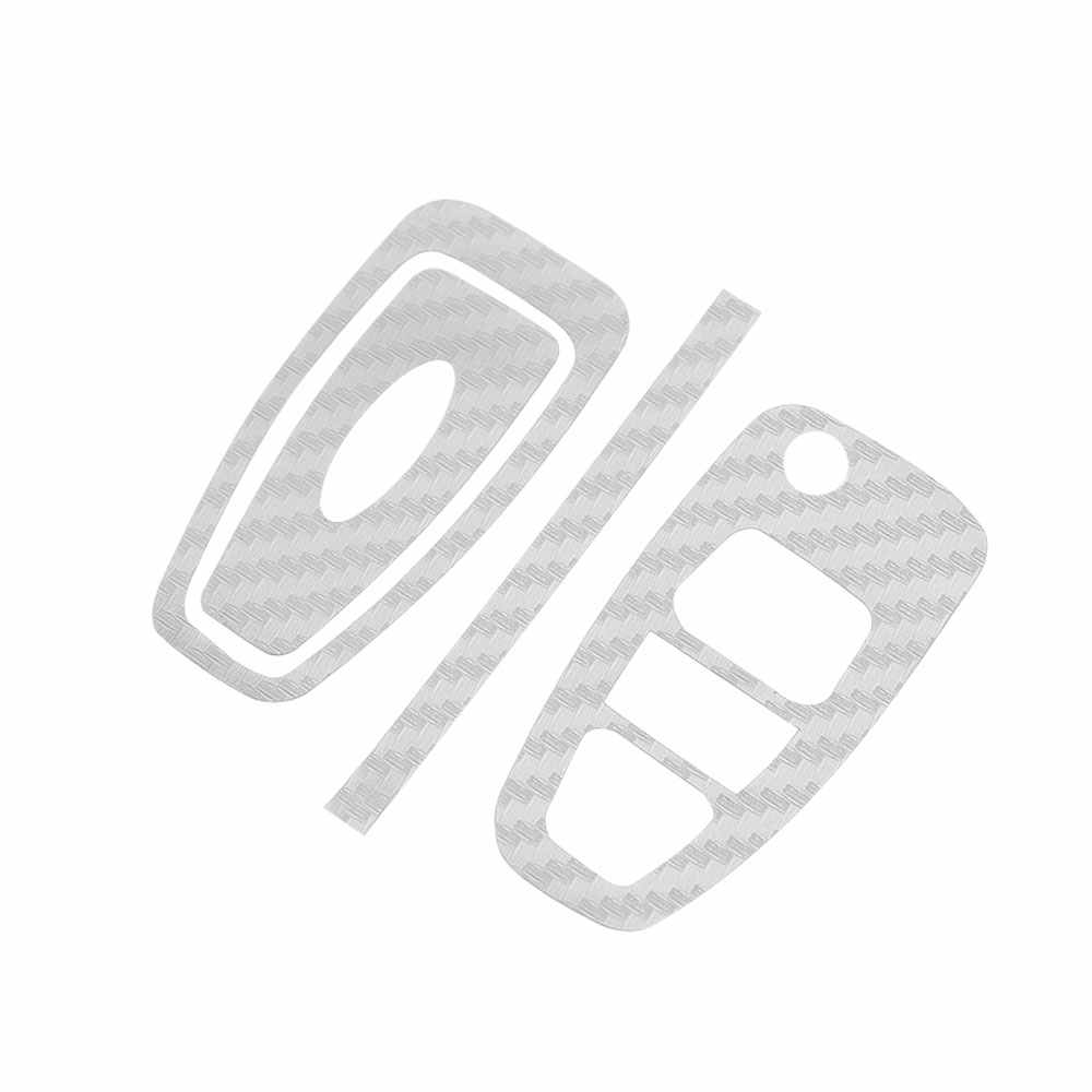 Jameoオート炭素繊維車のキー保護カバートリムステッカーケース用フォードフォーカス3 4 mk3 mk4 ranger久我エスケープ折り畳まキー