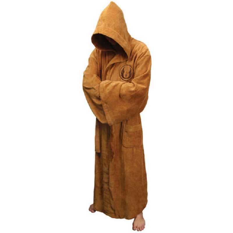 longxin Flannel Male With Hooded Thick Star Wars Dressing Gown Jedi Empire Bathrobe