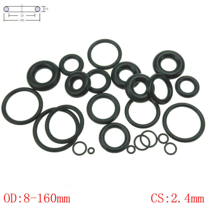 CS 2.4mm OD8-160mm NBR Rubber O Ring O-Ring Oil Sealing Gasket Automobile Sealing