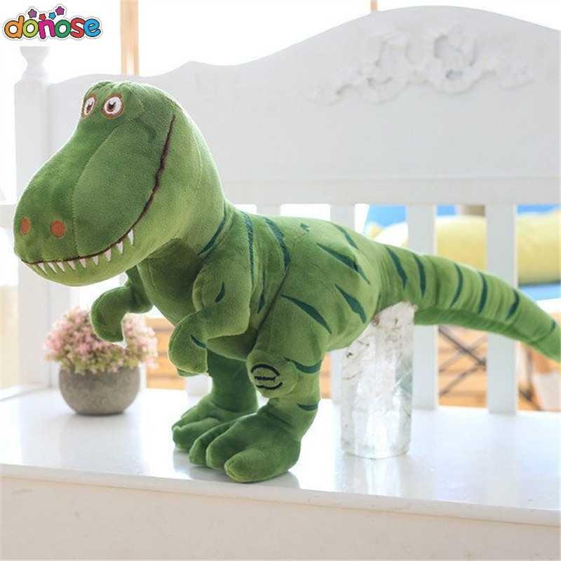1 шт. 40-100 см новые плюшевые игрушки, динозавр мультфильм Tyrannosaurus милые мягкие игрушки куклы для детей дети мальчики подарок на день рождения