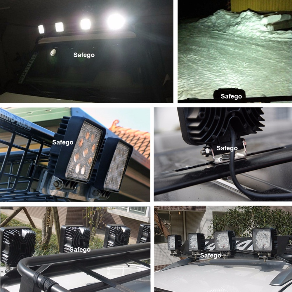 Safego 4 hüvelykes 27w led lámpa 12v 24v lámpa spot led led lámpa - Autó világítás - Fénykép 6