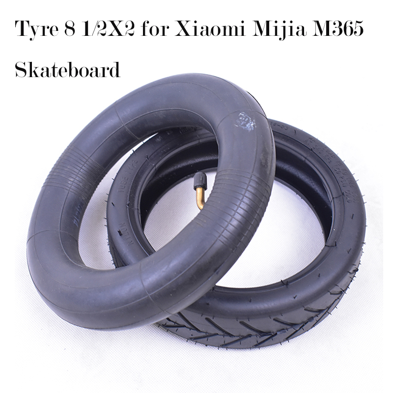 Xiaomi Mijia M365 Tube Tire Solid Tyre Smart Electric Scooter Tire Vacuum Wheel 8 1/2x2 Inflation Outer Inner Tube Non-Pneumatic