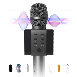 Image 2 - 2020 New most popular professional bluetooth  Handheld Wireless karaoke microphone for cell phone /TV singing support TF card