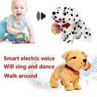 Creative Smart Robot Dogs Short Plush Plastic Sing Song Intelligence Children Toys Bark Stand Walk Interactive