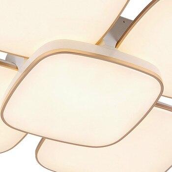 Fernbedienung Montiert Gebogen Fixture Moderne Led-chip Dimmen Acryl Runde Schlafzimmer Deckenleuchten Beleuchtung Lampe