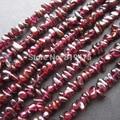 Красный натуральный гранатовый Кристалл бусины гранат грубые модные бусины для изготовления ювелирных изделий Аксессуары для ювелирных изделий - фото