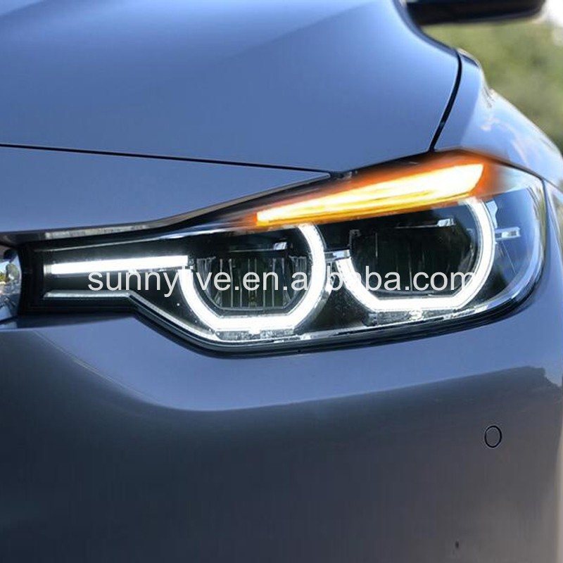 Para BMW F30 F35 318 320 325 328 330 335 LEVOU Anjo montagem Olhos Farol CN