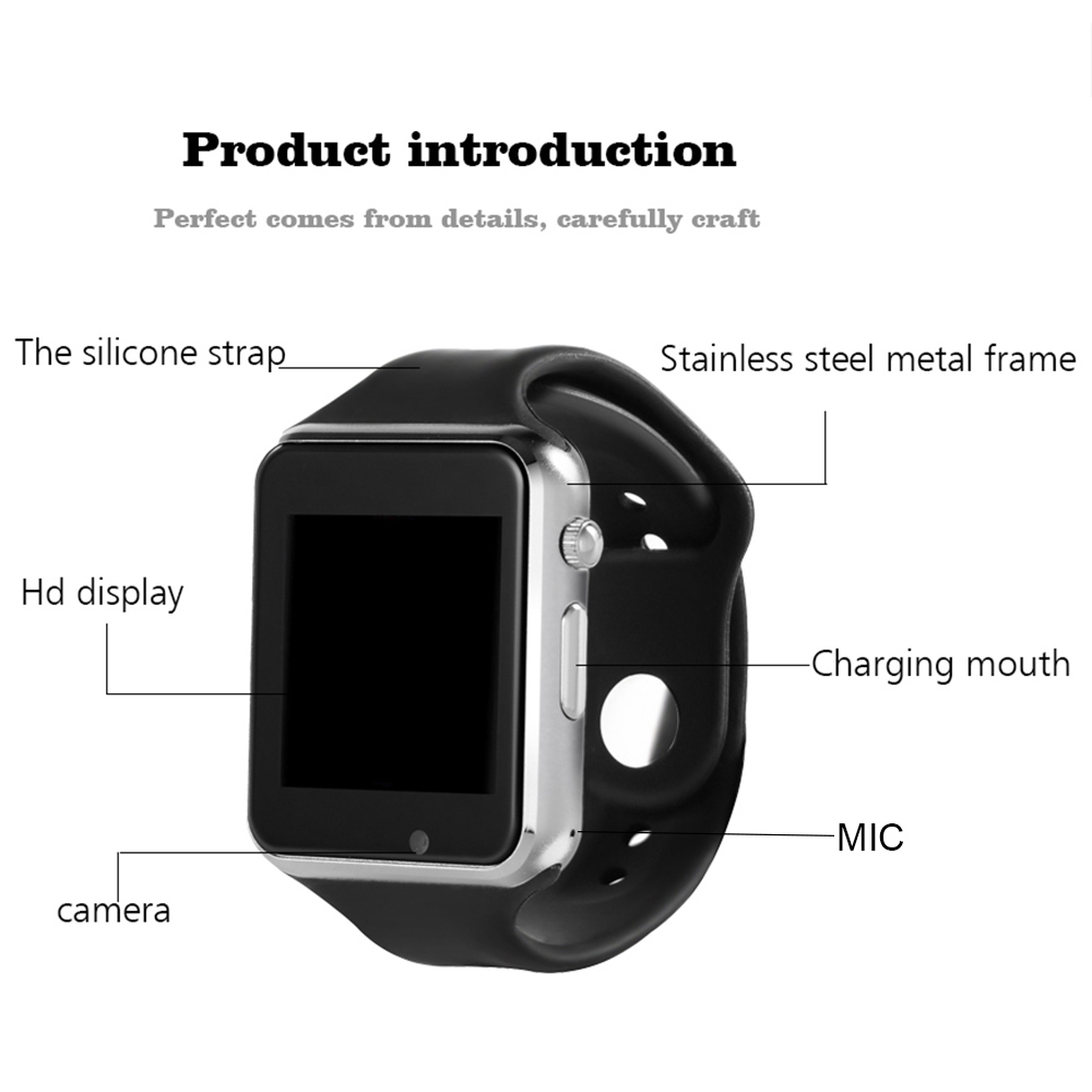 97cebd997c1 Time Owner A1 Smart Watch SIM Watch Phone Camera Smartwatches Pedometer  Sleep Monitor SMS Call Reminder For Android (with Box)-in Smart Watches  from ...