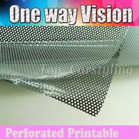 2 roll / Lot Perforated Mesh Film Like Fly Eye MOT Legal Tint Spi Vision Self Adhesive Size 1.07X50M Free Shipping to UK
