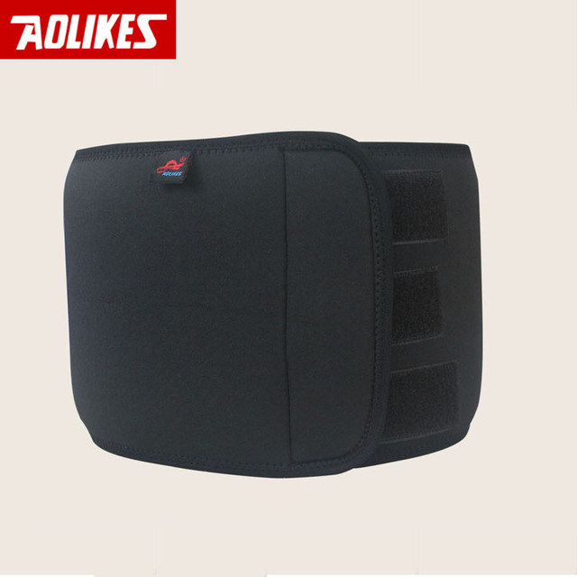 AOLIKES Men Waist Support Belt Lumbar Brace Breathable Protection Back Absorb Sweat Fitness Sport Protective Gear 2