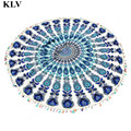 Hot Selling Round Hippie Tassel Tapestry Beach Mujer Throw Mandala Towel Yoga Mat Bohemian Au22