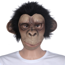 Animal Mask Cosplay Costume Monkey Adult Child Latex Breathable Halloween Party Decoration Party Tricky Fun Mask