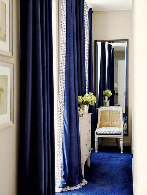 New Custom Made Luxury Italian Wool Curtains Living Room Curtain Joyous Wedding Decorations Eco Friendly Flocked Yarn