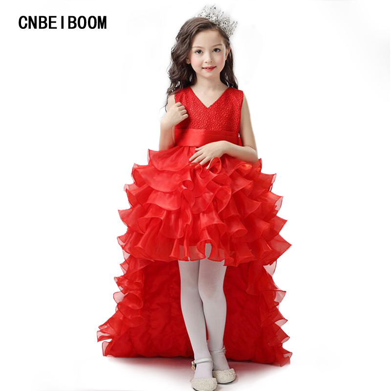 Flower Girl Dresses Red Chiffon Tailing Pageant Girl Summer Children 2-14 Years Weddings Party Birthday Tutu Dress with Big Bow 9pcs power supply for led lights 20a ac 110 260v to dc 12v led power adapter transformer waterproof ip67 led driver 250w
