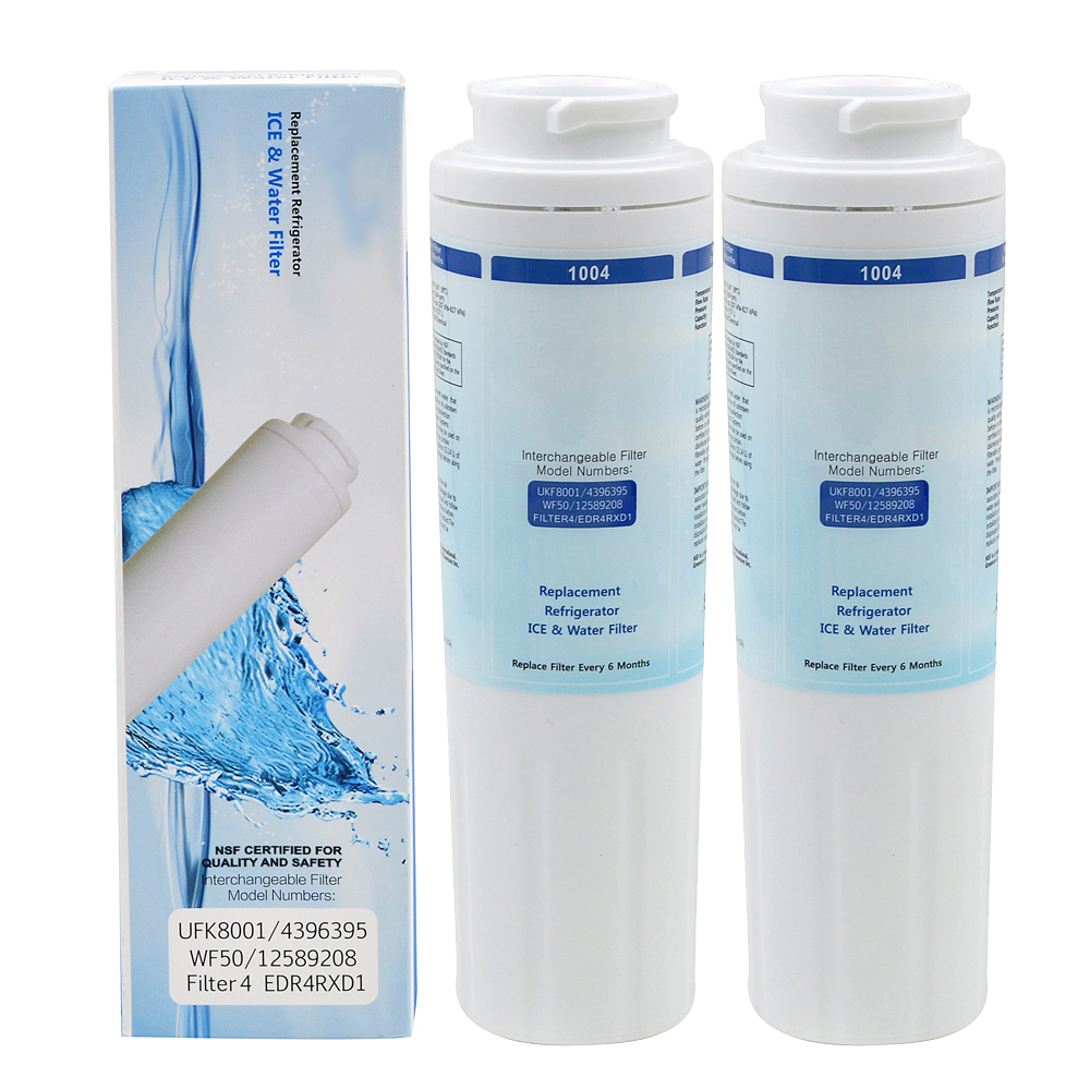 Household GRE1004 Refrigerator Water Filter Activated Carbon Replacement for Maytag Whirlpool UKF8001 Filter 2 Pcs/lot hot sale household filter gre1011 refrigerator water filter kitchen activated carbon replacement for ge mwf mwfa 1piece