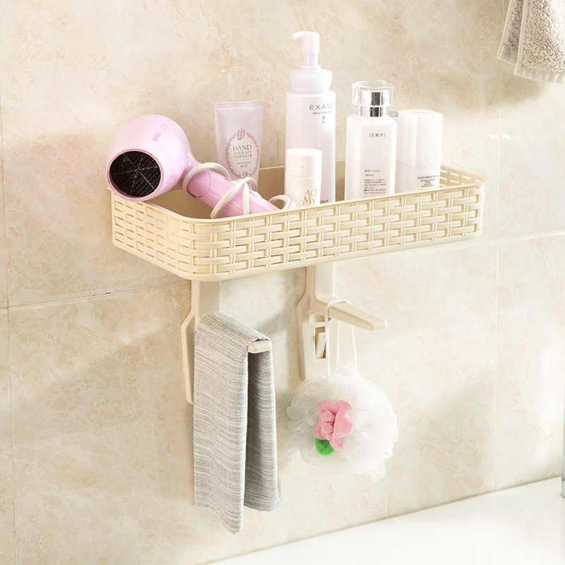 Luluhut mensola in plastica bagno di aspirazione a parete napkin holder riutilizzabile senza soluzione di continuità ventosa wc mensola del bagno cestino sapone per le mani titolare