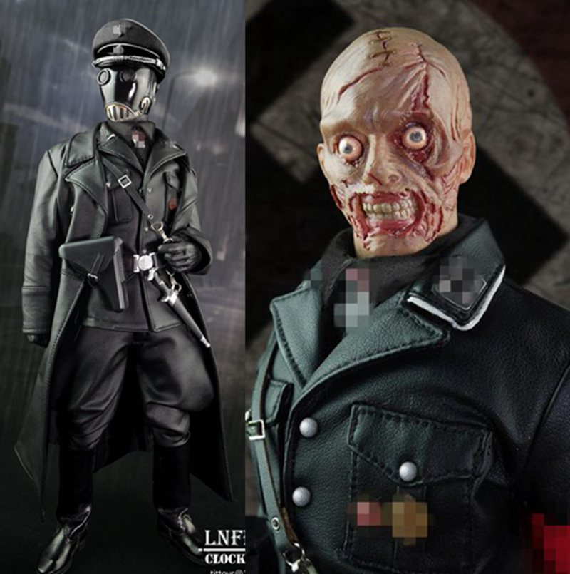 1/6th scale figure Collectible Model plastic toy Hellboy Mask man officer Karl Ruprecht Kroenen Infernal 12 Action figure doll hellboy mask breathable full face mask kroenen helmet halloween cosplay horror helmet karl ruprecht kroenen halloween props w153