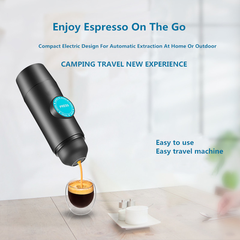 2 in 1 Capsule & Ground Mini Espresso Portable Coffee Maker Hot and Cold Extraction USB Electric Coffee Powder Making Machine
