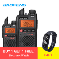 2pcs Baofeng Walkie Talkie UV 3R 136 174/ 400 470MHz Portable CB Ham Radio UV 3R Plus Dual Band Ham Radio Motorcycle Intercom