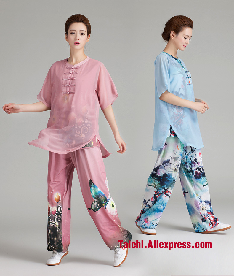 Short Sleeve Chi Summer Practice Tai Chi Uniform Tai Chi Suit  Kung Fu Clothing For Woman