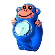 Monkey Childrens Watches Silicone Slap Kids Sports Quartz Wristwatch Creative Cute Baby Clock Christmas Gift