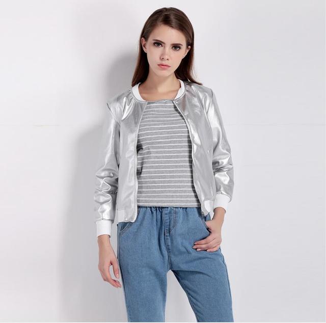 2017 SELLWORLDER Fashion Coat Women O-Neck Long Sleeve Basic Outwear Coat Casual Zipper Fly Slim Bomber Jacket For Ladies 2